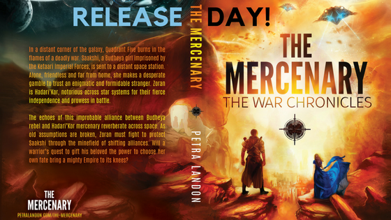 Release day, Book review, The Mercenary, Petra Landon, The War Chronicles