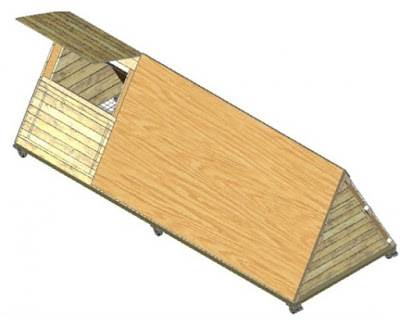 Build a mobile chicken coop or chicken tractor for your backyard chickens.
