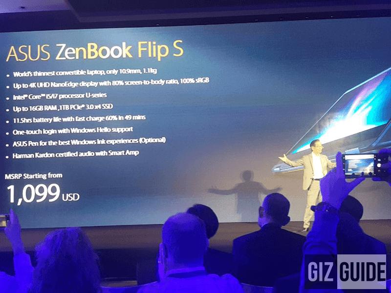 Asus Launches ZenBook Flip S specs