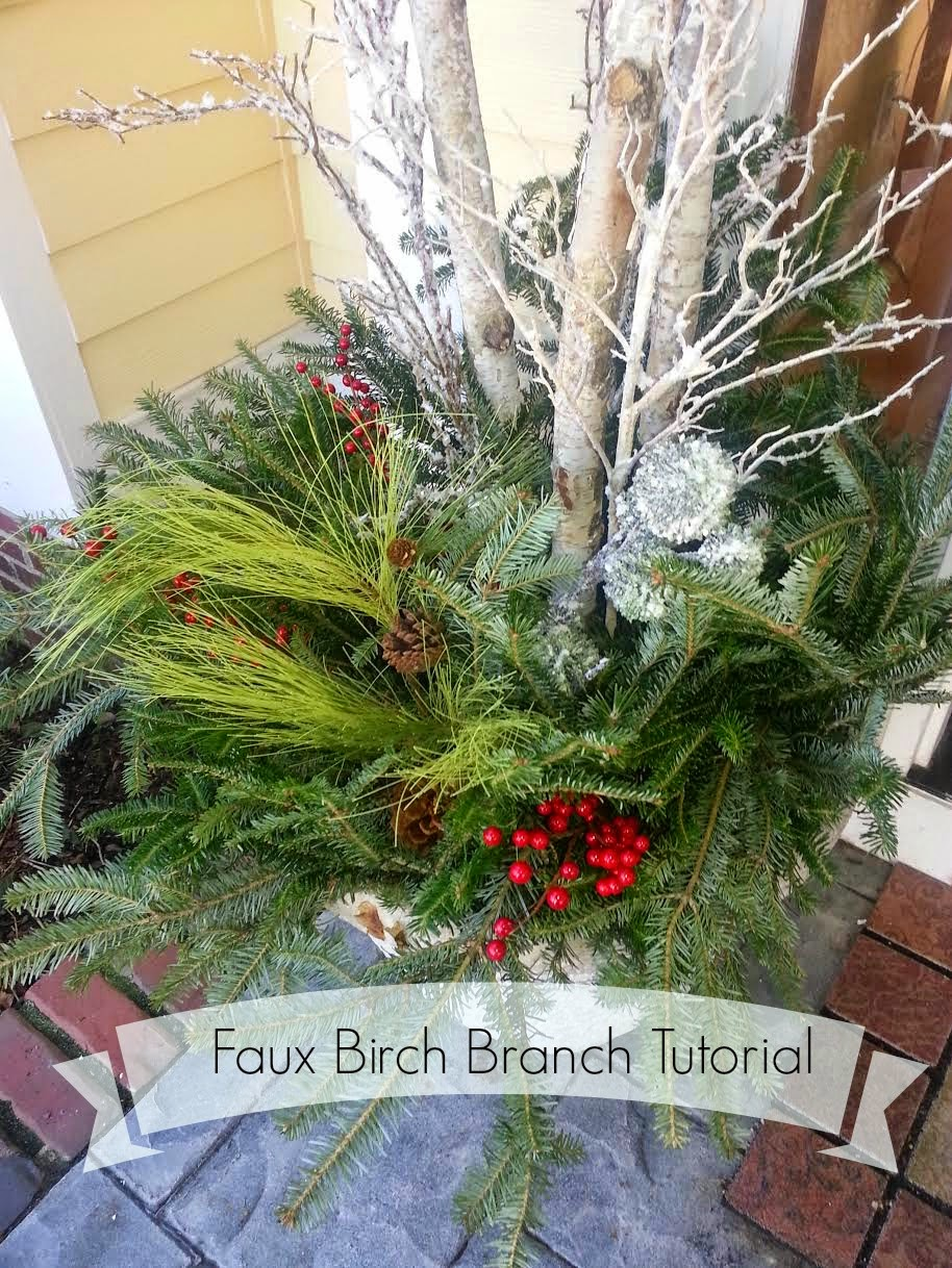 Decor You Adore Faux River Birch Branches Easy Tutorial