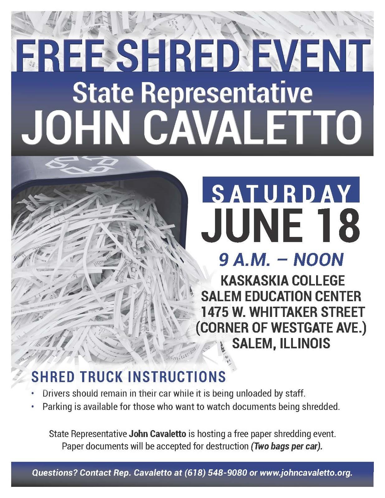 Illinois State Representative John Cavaletto Rep
