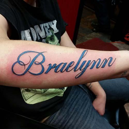 forearm big name tattoo büyük isim dövmesi kol