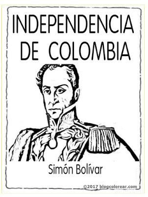 independencia de colombia para colorear