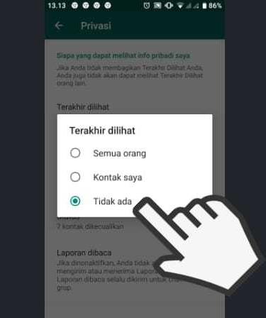 cara menghilangkan status online di wa tanpa aplikasi