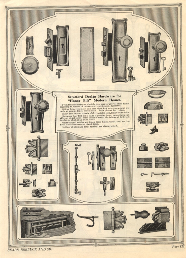 Sears Stratford door hardware