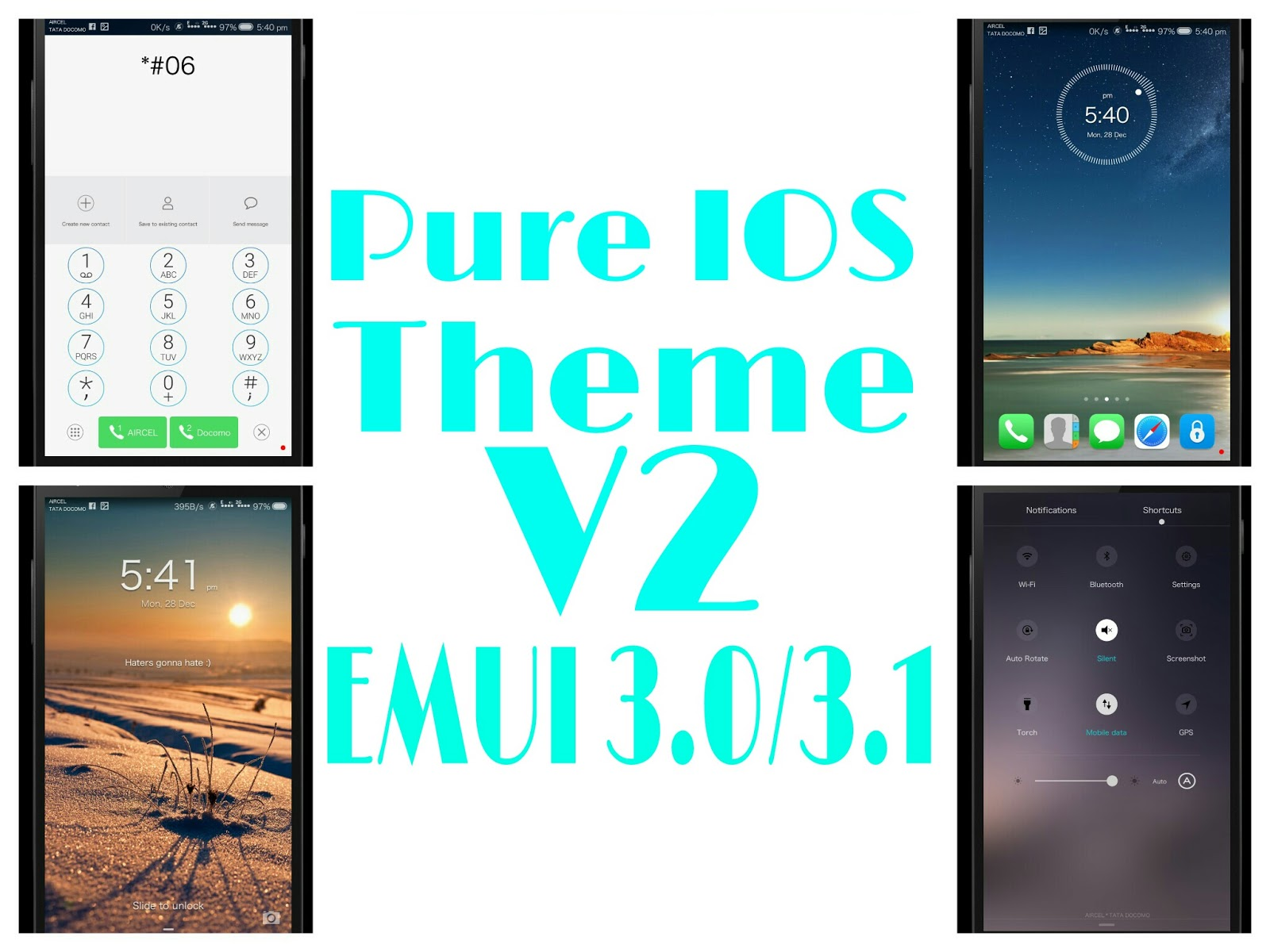 Pure IOS Theme for EMUI 3 0/3 1