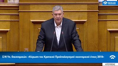 ΓΙΑΝΝΗΣ ΚΑΡΑΓΙΑΝΝΗΣ- Ομιλία στη Βουλή για τον προϋπολογισμό του 2019