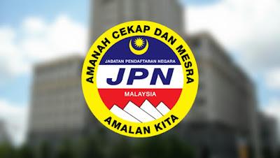 Permohonan Jawatan Kosong Jabatan Pendaftaran Negara 2018