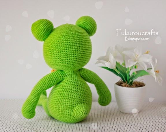 Cute Crochet Pattern Frog Doll, Cute Amigurumi Pattern Frog Doll, แพทเทิร์น ตุ๊กตา ถัก โครเชต์ กบ น้อย น่ารัก