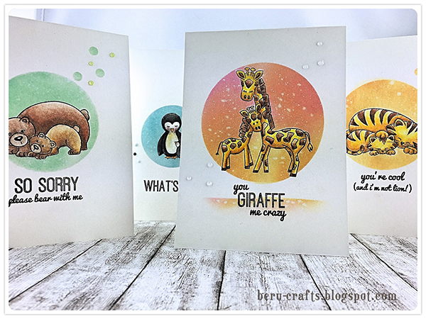 Fan Feature Week  | Animal cards by Beru Crafts using Wild Child Stamp set by Newton's Nook Designs #newtonsnook