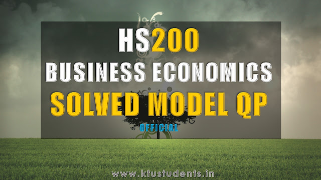 Business economics model qp with answer