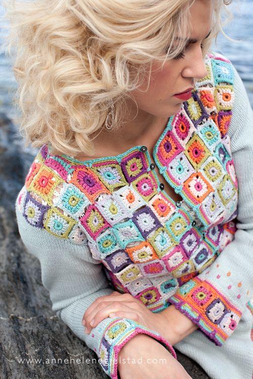 wzory ubran z kwadratow szydelkowych