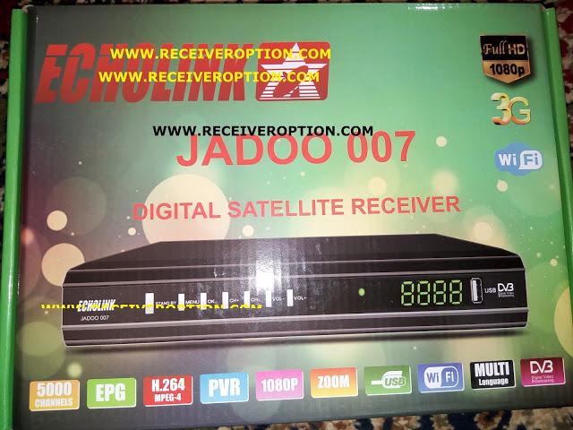 ECHOLINK JADOO 007 HD RECEIVER AUTO ROLL POWERVU KEY NEW SOFTWARE