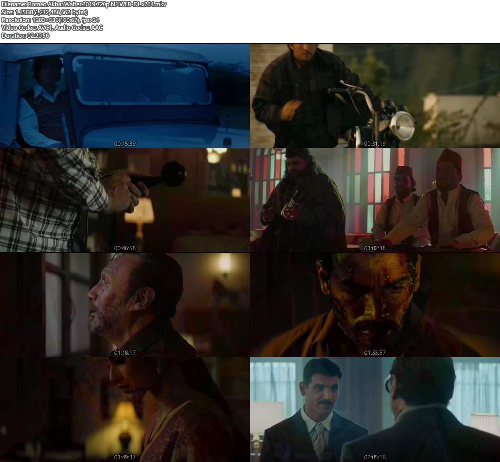 Romeo Akbar Walter 2019 720p NF WEB-DL x264   480p 300MB   100MB HEVC Screenshot