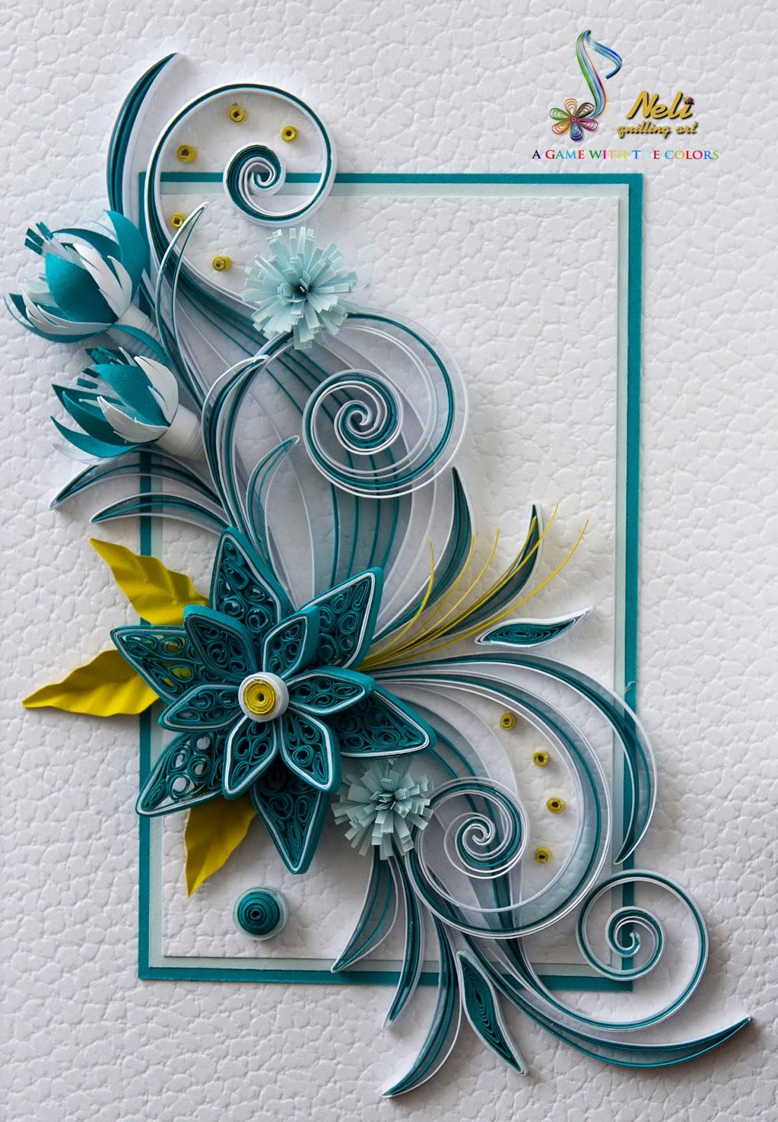 neli quilling art quilling card   105 cm  15 cm