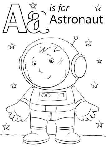 astronaut grabbing a star coloring page free printable - HD 849×1200