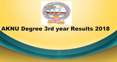Manabadi AKNU Degree 3rd year Results 2018, Schoos9 AKNU final year Results 2018