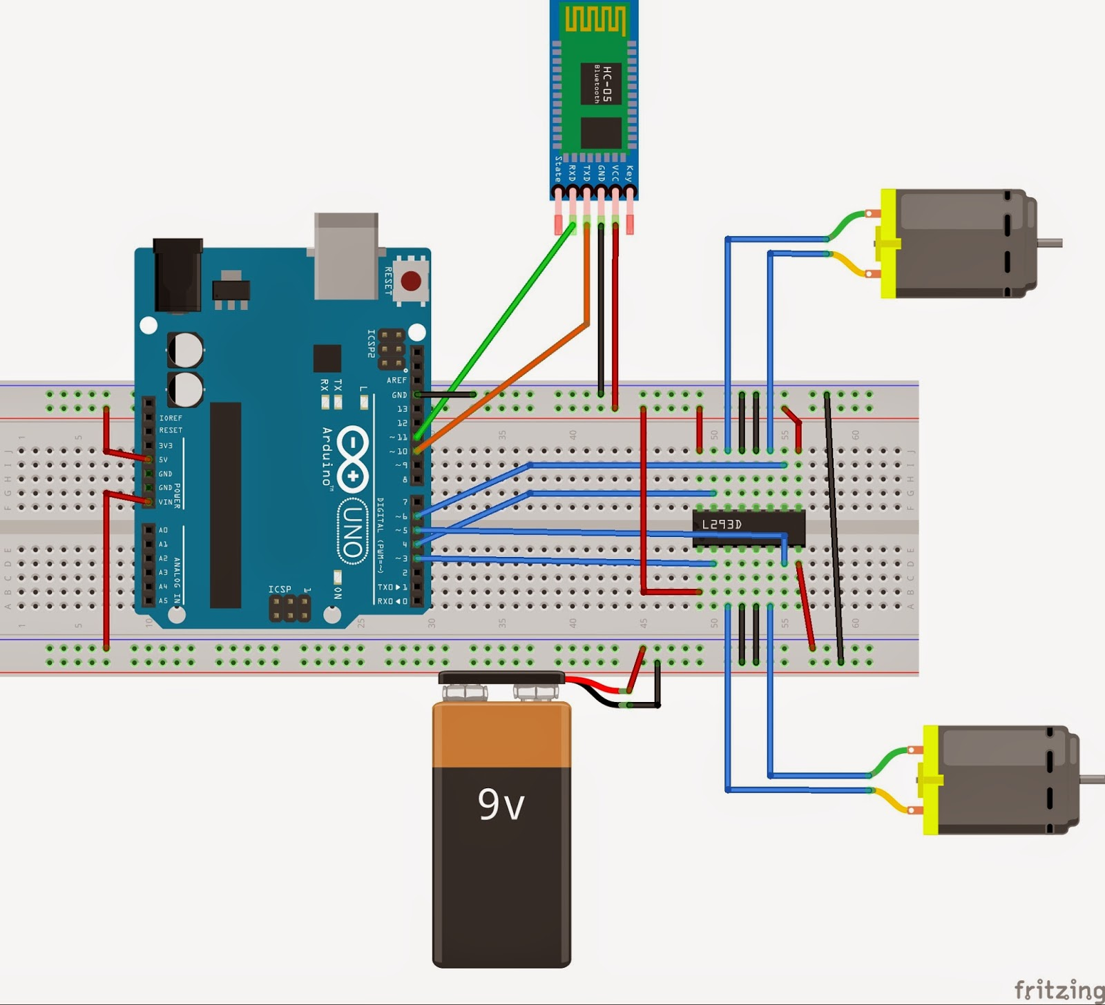 Bluetooth Low Energy Controlled Robot Block Diagram