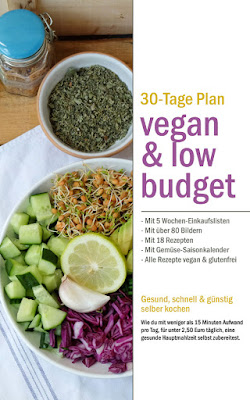 eBook Cover vegan & low budget 30 Tage Essensplan