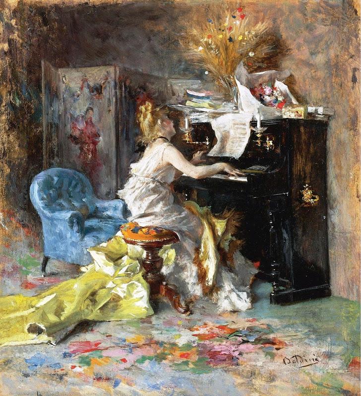 Giovanni Boldini - Woman by the Piano