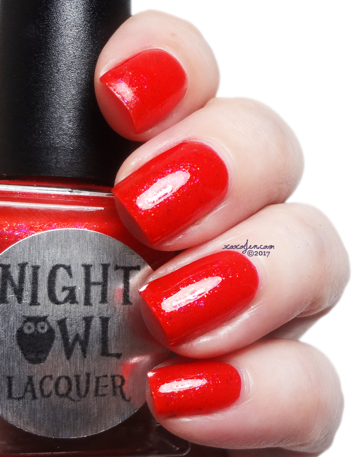 xoxoJen's swatch of Night Owl Glowing Embers