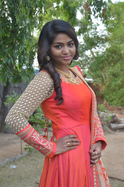 Actress Shalu Shamu Stills in Red Dress at Kekran Mekran Audio Launch  0004.jpg