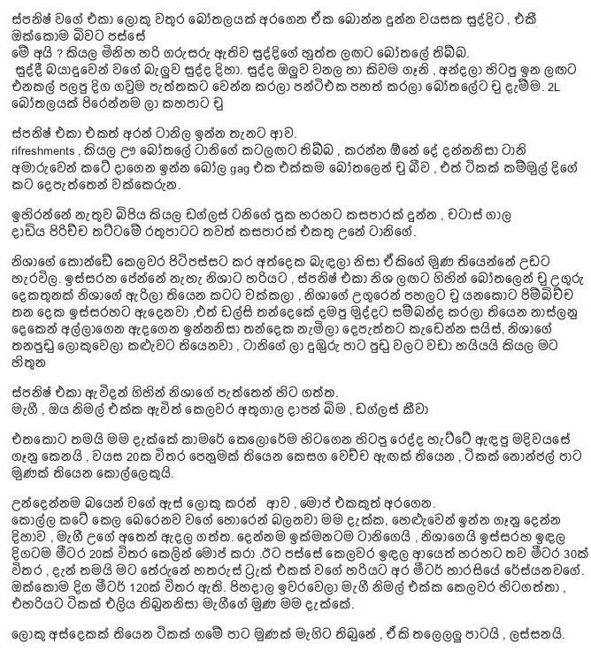 Mage Wife Nisha 12C - Sinhala Wal Katha