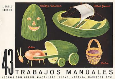 43 trabajos manuales hechos con melón, cacahuetes, huevo, naranja, mariscos