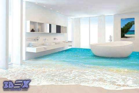 How to make 3d bathroom floor and 3d self leveling floor Do your own bathroom design