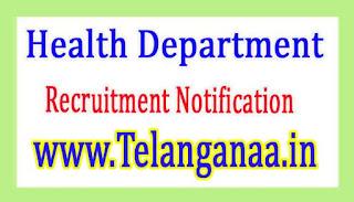 Health DepartmentGovernment of Chhattisgarh Recruitment Notification 2017