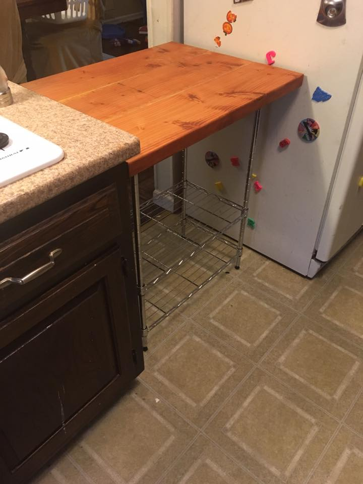 DIY - Butcher Block Kitchen Cart - One Brown Mom