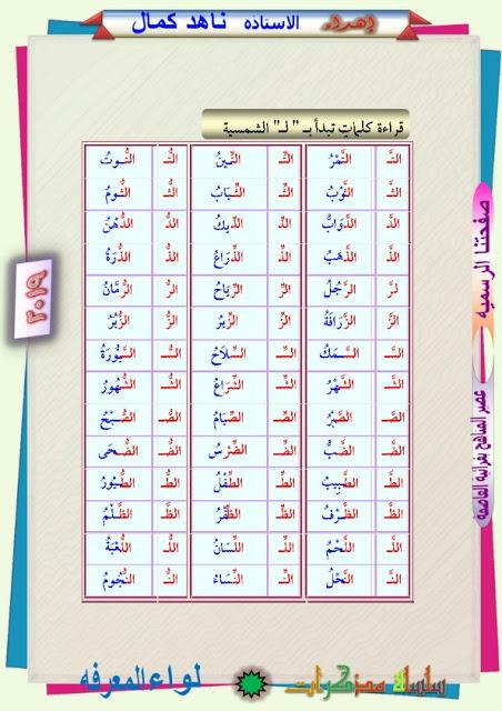 مذكرة تأسيس لغة عربية تلاميذ الصف الأول الإبتدائى و رياض الأطفال