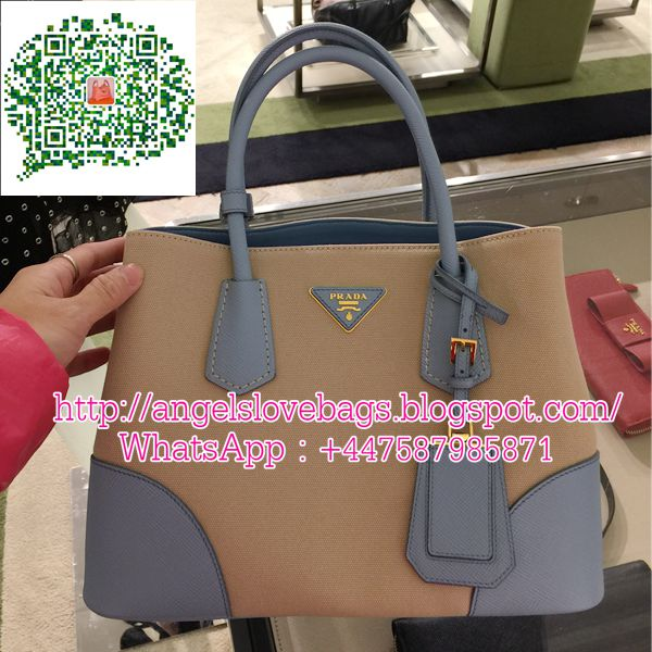dbbfc155a5 ... discount code for prada vip presale 50 off prada double bag in canvas  leather cfc5f 54f3e ...