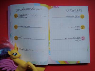 kalendarz 2017, My Little Pony, kalendarz dla dziewczynki, kalendarz dla dzieci