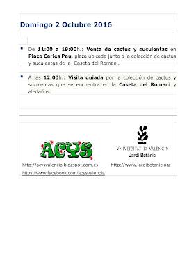 Programa V encuentro de cactus y suculentas