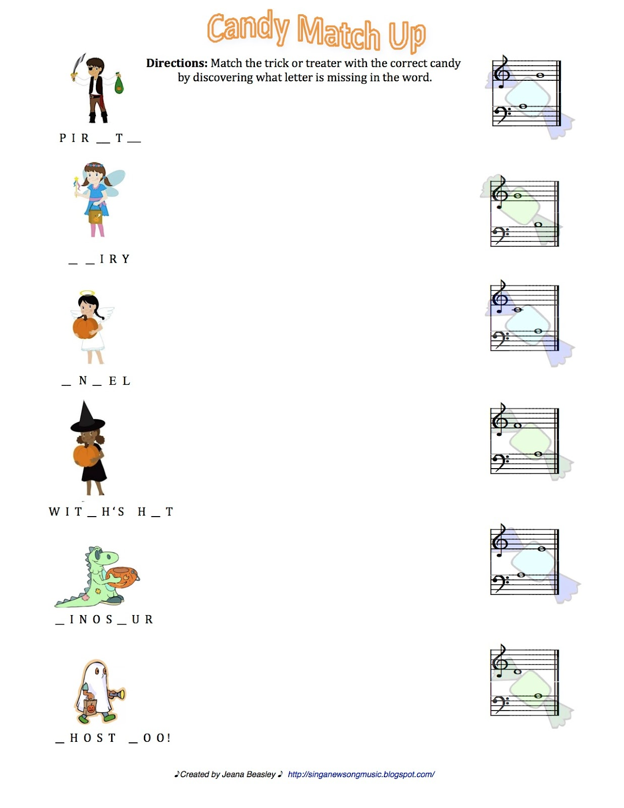 Sing A New Song Resources For Halloween