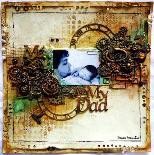 "Layout ""Me & My Dad"" for 2crafty Chipboard"