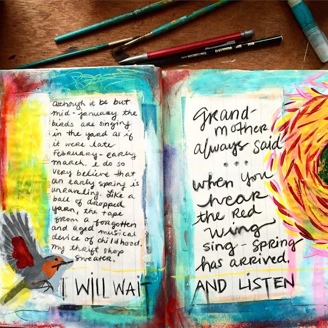 Ashlie Blake, Painting Bliss, Sketchbook, Art Journal, Sketchbook Conversations, My Giant Strawberry