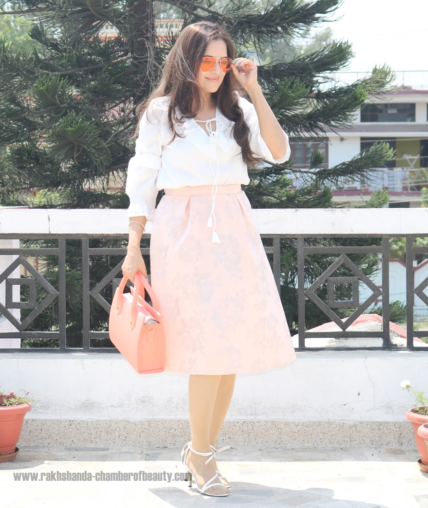 How to style midi skirts, summer fashion trends, Dorothy Perkins pleated midi skirt, Indian fashion blogger, Chamber of Beauty