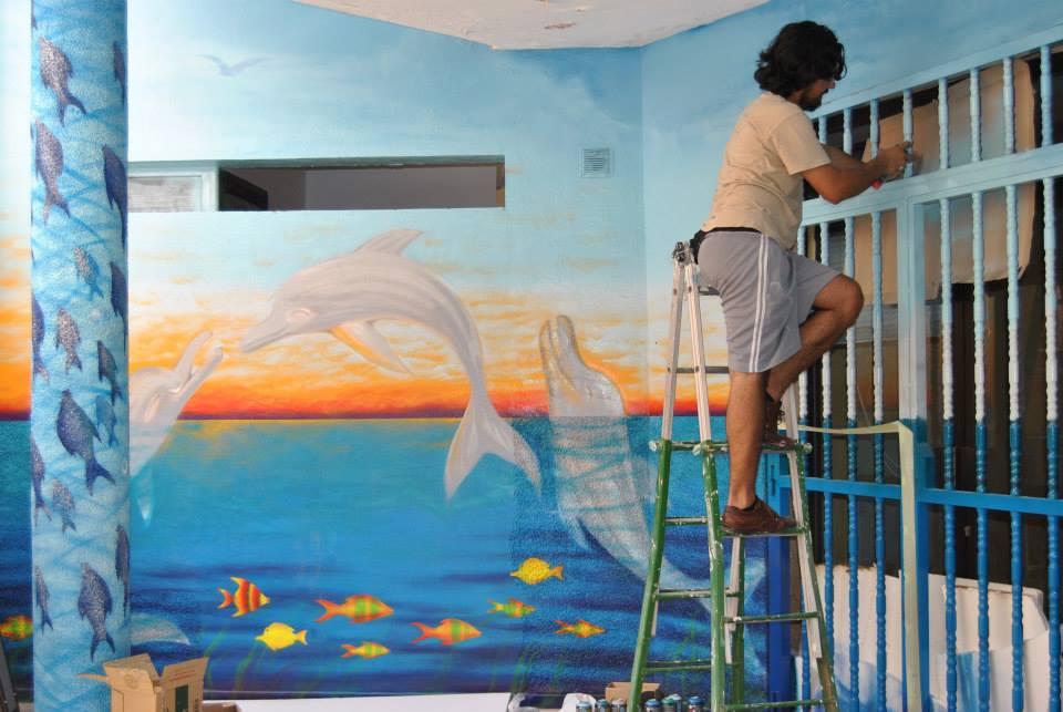 Decoracion Y Pinturas Malaga Mural Artistico En Centro Infantil