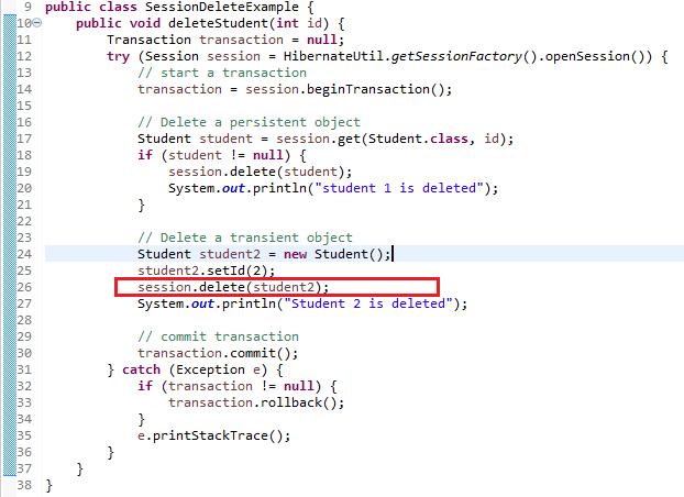 Hibernate 5 - Delete or Remove an Entity Example