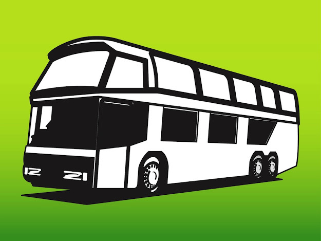 Vector Bus  Clipart Library