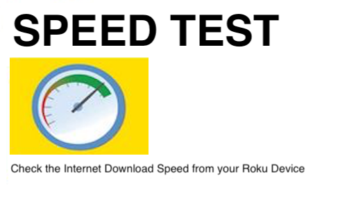 Roku Speed Test Channel