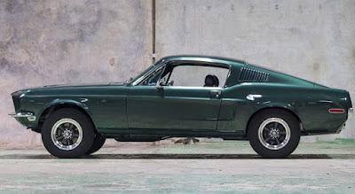 1968 Green Mustang Bullit Fastback Side Left