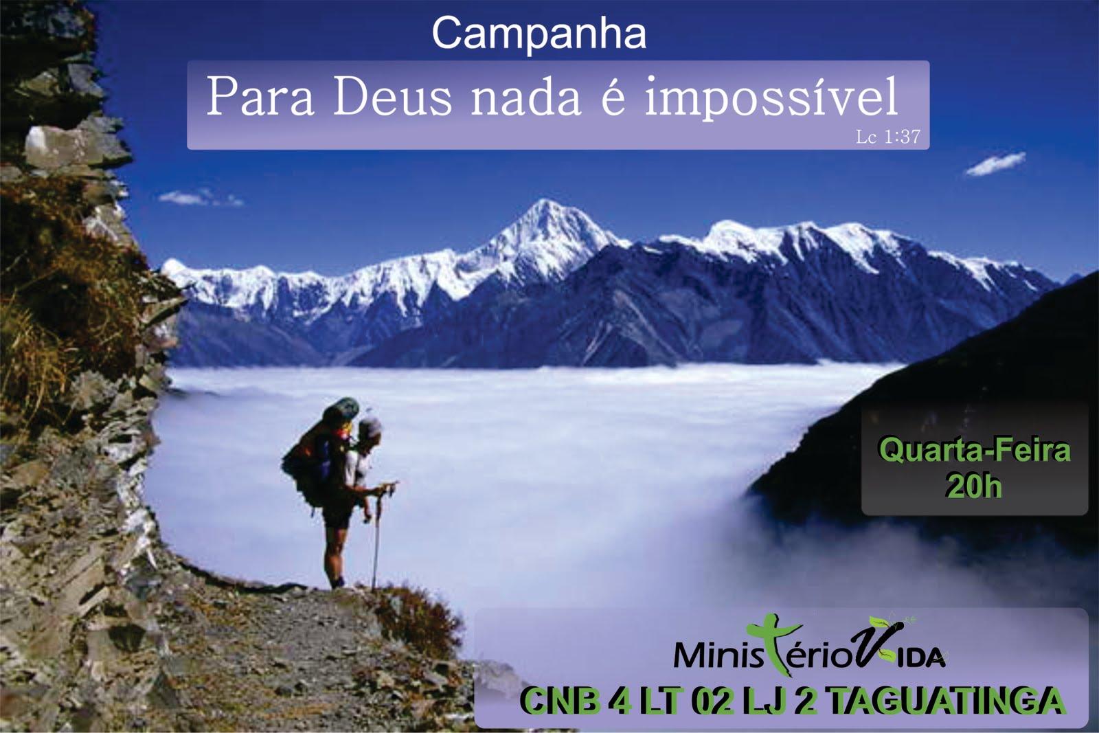 BEM VINDO AO BLOG MINISTÉRIO VIDA!: CAMPANHA: Para Deus