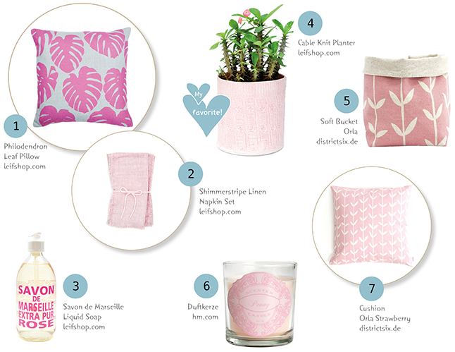 Ynas Design Blog, Shopping Tipps, What I like, pink