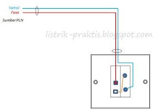 instalasi saklar + stop kontak dengan modifikasi fungsi