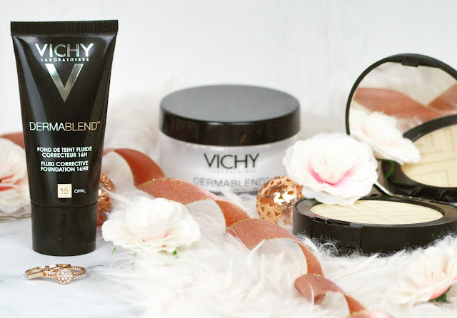 Vichy Dermablend High Coverage New Releases 16 Hour Corrective Fluid Foundation, Translucent Setting Powder, 12 Hour Covermatte Compact Powder Foundation