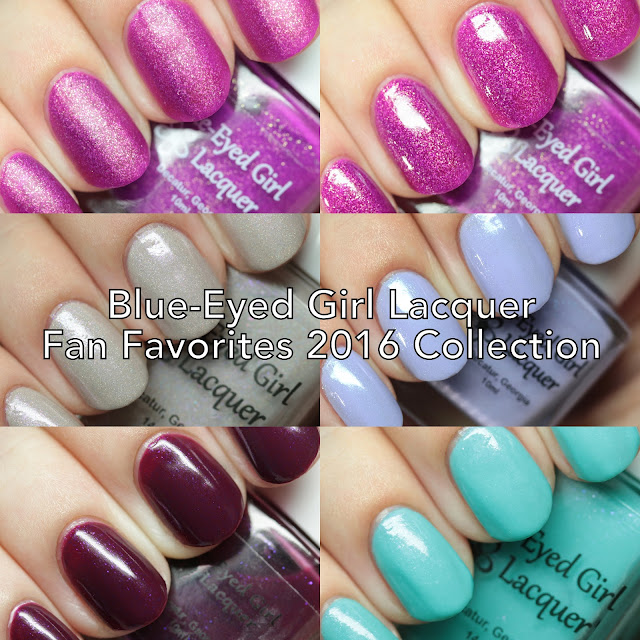 Blue-Eyed Girl Lacquer Fan Favorites 2016 Collection