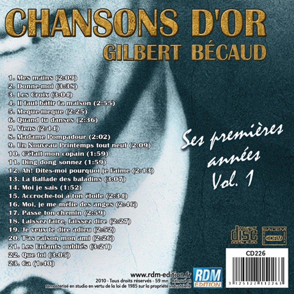 MIJAS: GILBERT BECAUD - Chansons D'Or , Ses Premières Années REPARADO